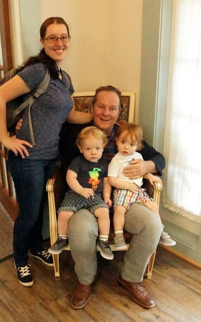 Amy, Pastor Steve Davis, & Grandkids.