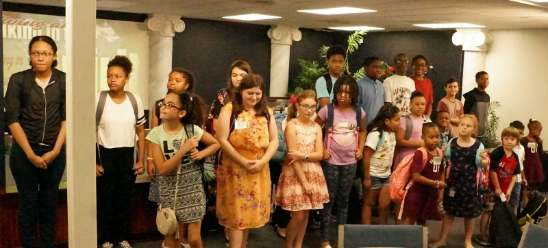Children that were bless during 11:00 am service.