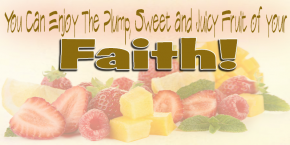 You Can Enjoy the Plump, Sweet, Juicy Fruit of Your Faith…(by releasing the will of God in your life)